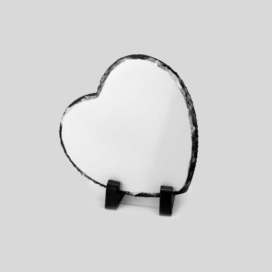 Heart frame 15,5x15,5 cm. Slate Stone