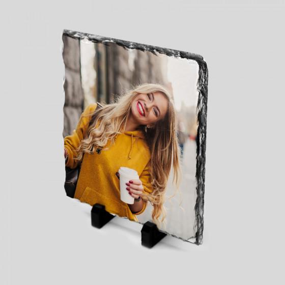Frame 20,7x20,7 cm.  Slate...