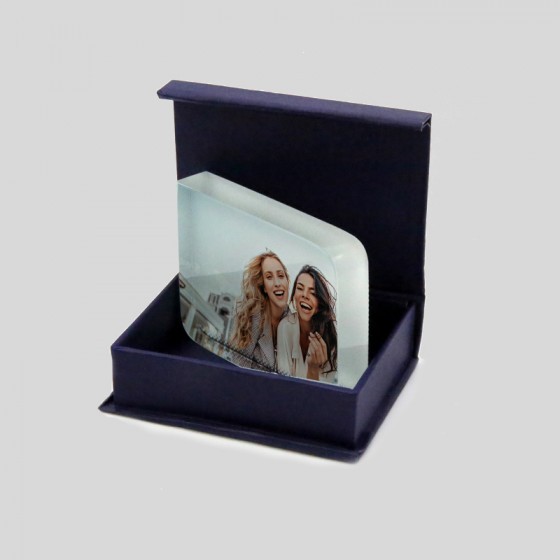 Crystal 6x8 cm. with...