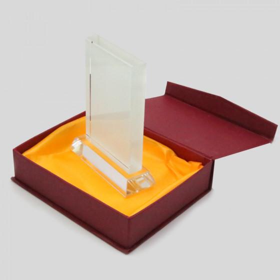 Rectangular Crystal 13x9 cm. with base