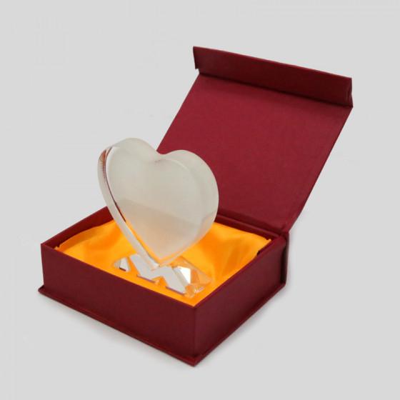 Heart Crystal 10x10 cm.
