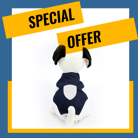 JEANS Dresses for Dog and Cat with Sublimation Embroidery