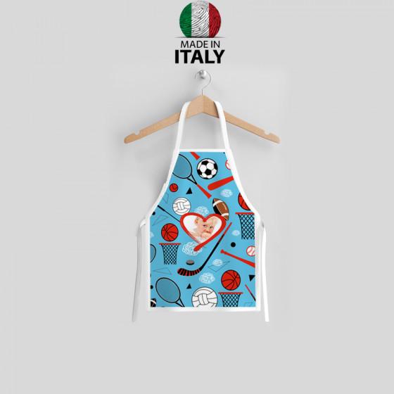 Pre-printed boy apron 7-10...