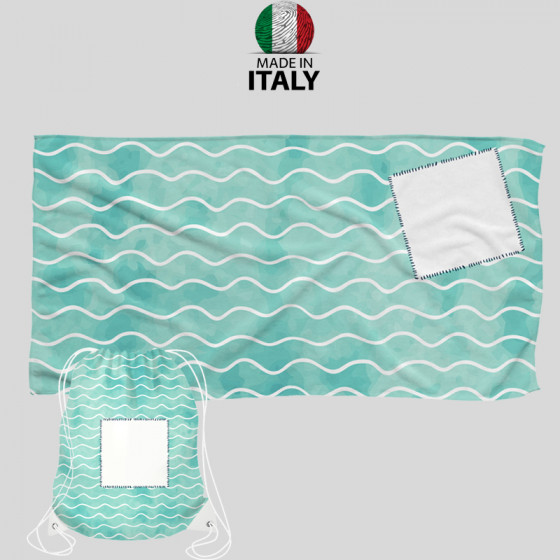 KIT MARINE PANDAN Beach Towel 75x140 + Marine Backpack