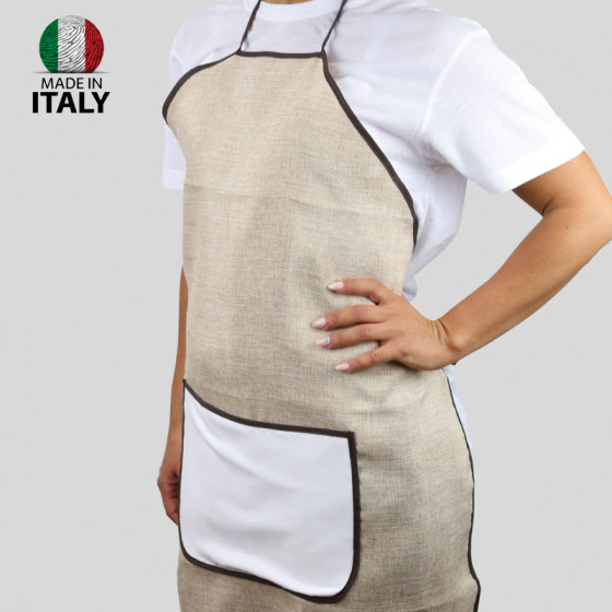 Jute aprons with POCKET