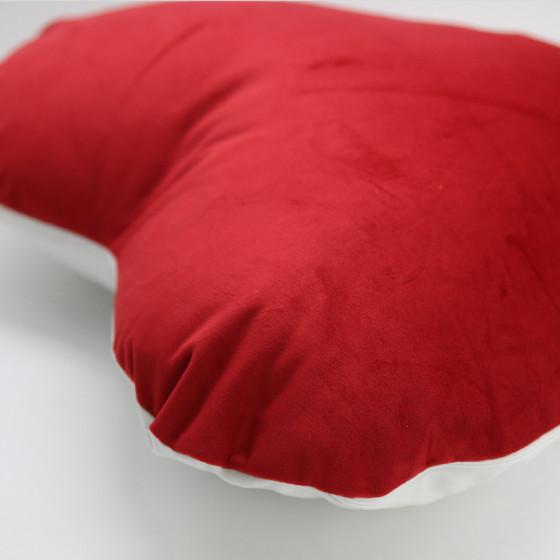 Heart Two-tone Velvet pillowcase 40x40 cm.