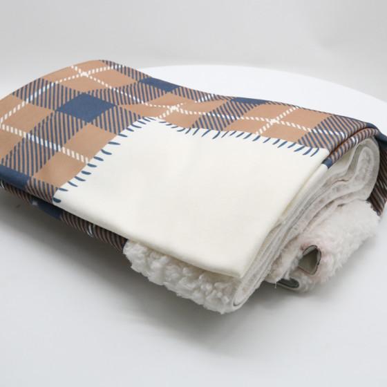 Beige Christmas Blanket in Pre-printed Pail 100x150 cm.