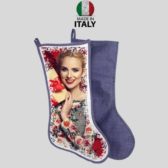 Befana sock retro Fineart Blu