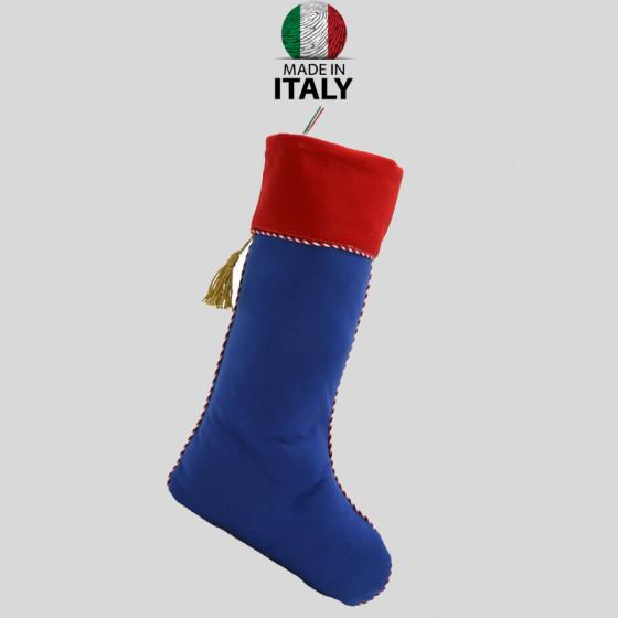 Befana Sock in Blue-Red Felt