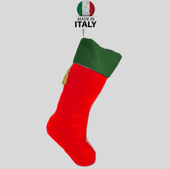 Befana Sock in Red-Green Felt