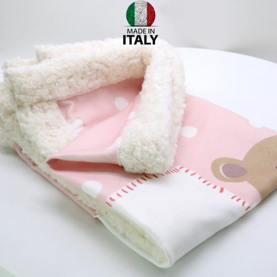 Baby Girl Blanket in Pre-Printed Pail 75x100 cm.