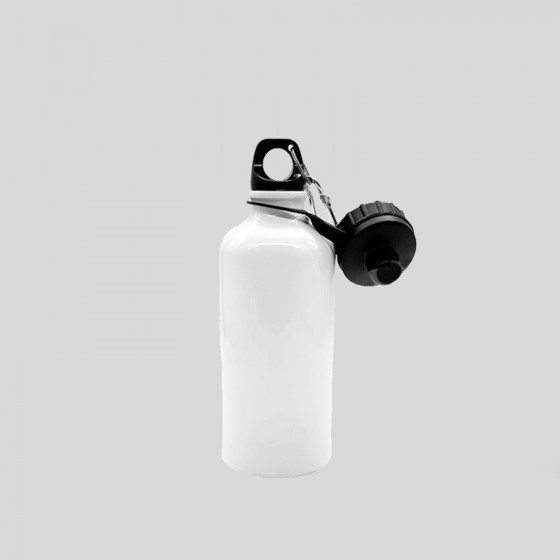 Water bottle 500 ml. with DOUBLE SCREW CAP and carabiner