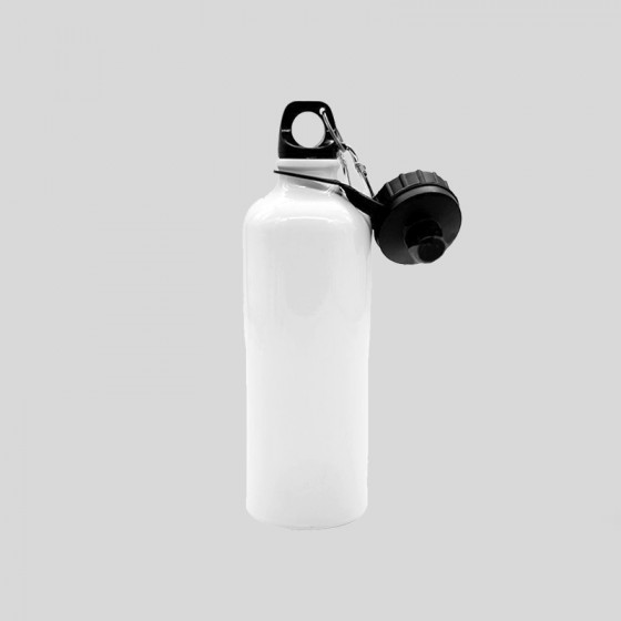 Water bottle 750 ml. with DOUBLE SCREW CAP and carabiner
