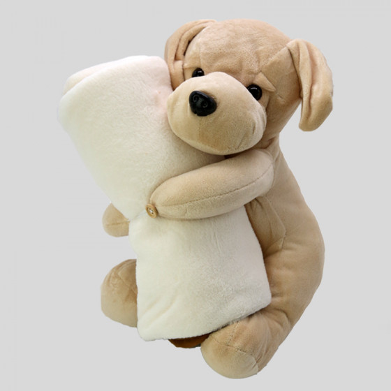 Labrador plush toys with Plaid