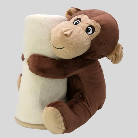 Monkey Plush with Plaid