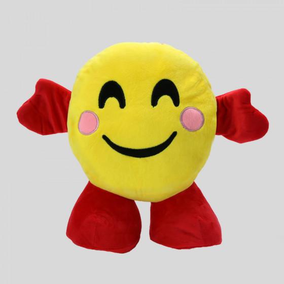 Smile Happy plush toys with Plaid