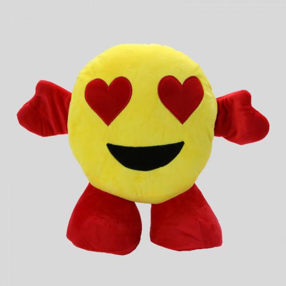 Smile Love Plush Toys with Plaid