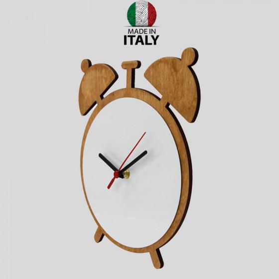 WOODEN Clock Wall Alarm Clock