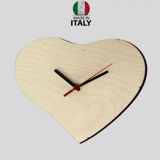 Wood Wall Heart Watch