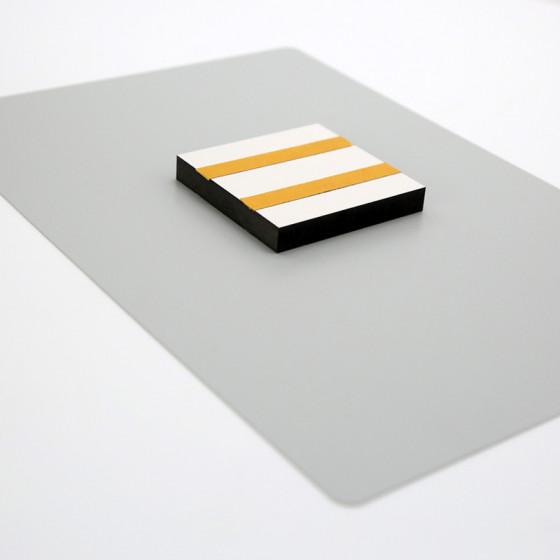 White panels with aluminum
