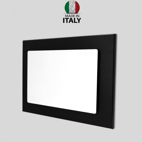 Black panels with aluminum